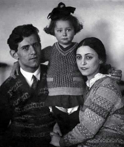 Михаил Плисецкий и Рахиль Мессерер с дочерью Майей